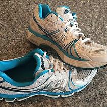 Asics Gel Kayano 18 Womens Size 10 Aa 2a Narrow Running Shoes Blue White Silver Photo