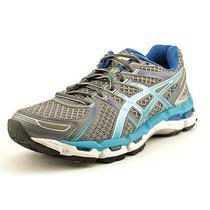 Asics Gel-Kayano 19 Gs Womens Size 9 Gray Mesh Running Shoes Eu 40.5 Used Photo
