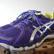 Asics Gel Kayano 19 Running Purple Womens Shoes Sz 9 B Standard Medium T350q Photo