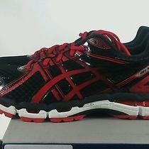 Asics Gel Kayano 19 Running Shoes Black Flame Red Onyx Mens Sz 9.5 New Photo