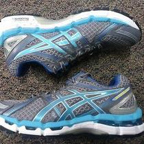 Asics Gel Kayano 19  Running Shoes White Grey Silver Blue T351n(d) Womens Size 8 Photo