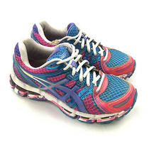 Asics Gel Kayano 19 Women's Athletic Running Shoes Sneaker Pink Aqua T350q Sz6 Photo