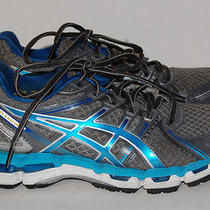 Asics Gel-Kayano 19 Womens Blue and Gray Running Shoes Size 7.5 Photo