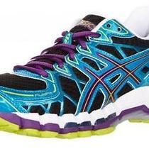 Asics Gel Kayano 20 Blue Womens Size 7 B Barely Worn Black Plum Running Shoes Photo