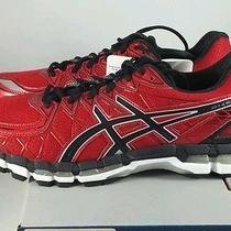 Asics Gel Kayano 20 Running Shoes Red Pepper Black Lightning Mens Sz 10 New Photo
