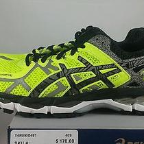 Asics Gel Kayano 21 Lite Show Running Shoes Safety Yellow Black Mens Sz 9.5 New Photo