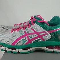 Asics Gel Kayano 21 Running Shoes Emerald Green Hot Pink White Womens Sz 8 New Photo