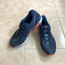 Asics Gel-Kayano 23 Running Shoes Blue Pink Sneakers T696n Women's 10 Flyte Foam Photo
