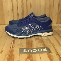 Asics Gel-Kayano 24 Running Shoe Womens Size 9 T799n Blue White Yellow  0060 Photo