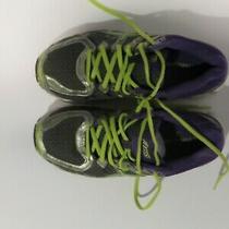 Asics Gel-Kayano 7 Running Athletic Shoes T4h7n Silver Purple Neon Green Sz 8.5 Photo