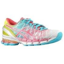 Asics Gel-Kinsei 5 Women's Running Shoes White/teaberry/yellow Us 6.5 Photo