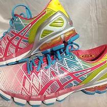 Asics Gel Kinsei 5 Womens 9.5 White Teaberry Yellow New Running Shoe Not Worn Photo