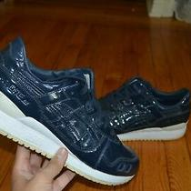 Asics Gel-Lyte Iii Mens's Navy Blue Patent Leather Sneakers Size 13 Very Clean Photo