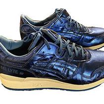 Asics Gel Lyte Iii Sz 11 Women Metallic Blue Running Shoes Mint New Shiny Photo