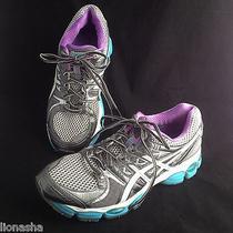 Asics Gel Nimbus 14 Running Shoes Sz 9.5 Igs Lightning White Electric Blue  Photo