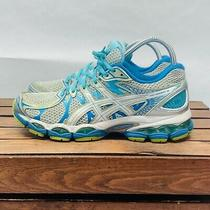 Asics Gel Nimbus 16  Running Sneakers Womens 9 Silver Blue Preowned T485n Photo