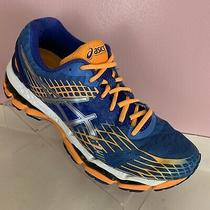 Asics Gel Nimbus 17 Running Shoes Womens Size 8.5 Blue Orange White T557n Photo