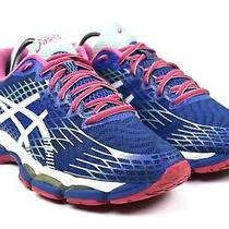 Asics Gel-Nimbus 17 Women's Blue Pink Athletic Running Shoes Size 8.5 Photo