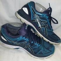 Asics Gel-Nimbus 19 Sz 9 Insignia Blue Glacier Sea Running Shoes T750n-5067 Vguc Photo