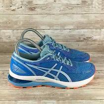 Asics Gel Nimbus 21 Womens Size 8 Blue Athletic Comfort Walking Running Sneakers Photo