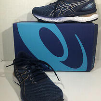 Asics Gel-Nimbus 22 Womens Sz 7 Grey Floss Peacoat Athletic Running Shoe Zd-236 Photo