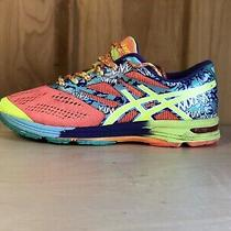 Asics Gel Noosa T580n Running Shoes Sneakers Womens Size 8.5 Pink Yellow Teal Photo