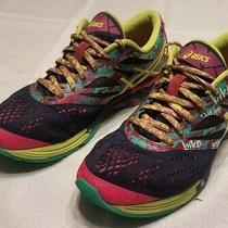 Asics Gel-Noosa Tri 10 Running Shoe Womens Size 9 T580n Blue Pink Yellow Photo
