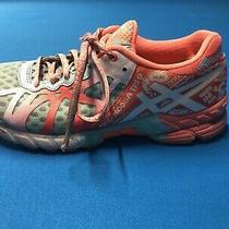 Asics Gel Noosa Tri 9 Orange Turquoise Triathlon Running Shoes Women Size 7.5 Photo