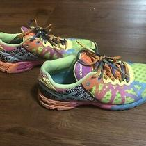 Asics Gel Noosa Tri 9 Womens Sz 6 Running Shoes Sneakers Neon Yellow T458n Photo