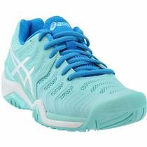 Asics Gel-Resolution 7   Womens Tennis Sneakers Shoes Casual   - Blue - Size 5 B Photo