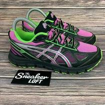 Asics Gel Scram 2 Womens Pink Green Trail Running Shoes Size 6 Photo