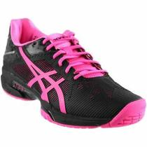 Asics Gel-Solution Speed 3  Casual Running Court Shoes - Black - Womens Photo