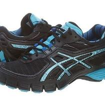 Asics Gel-Upstart Womens B151n-9061 Black Maui Blue Running Training Shoes Sz 7 Photo