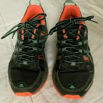 Asics Gel-Venture 5 Womens Black Green Athletic Training Running Shoes Size 6.5 Photo