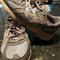 Asics Gel-Venture 6 Running Shoes Women's Size 8 Carbon Grey Pink Peach Photo