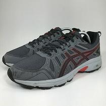 Asics Gel Venture 7 Mx Gray Red Mens Size 10 Trail Running Shoes 1011a560 Photo