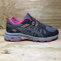 Asics Gel Venture 7 Trail Running Shoes Womens Size 8 Black/grey Photo