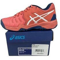 Asics Girls Size 1 Sneaker Papaya Pink Gel Resolution New Photo