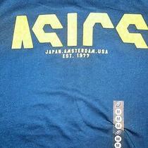 Asics Graphic T-Shirt Mens Size Medium Blue Photo