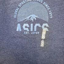 Asics Graphic T Shirt Mens Size Med Blue Photo