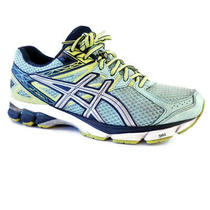 Asics Gt-1000 3 Womens Sz 8.5 Blue Yellow Mint Green Running Training Shoes Photo