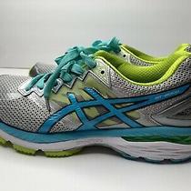 Asics Gt-2000 4 Womens Sz 10 1/2 Gray Blue Lime Green Running Training No Soles Photo