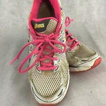 Asics  Gt-2000 T2k7n Womens Us Size 8  White and Pink Athletic Running Shoes Photo