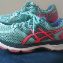 Asics Gt2000 4 Women's Running Shoes Sz 9.5 Fluoride Dynamic Duomax Aqua Blue/pk Photo