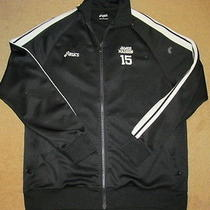 Asics James Madison 15 Volleyball Team Issue Warm Up Training Game  Jacket - L  Photo