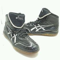 Asics Jy302 Women's Size 10m Black Leather/synthetic Wrestling Sneakers  Photo