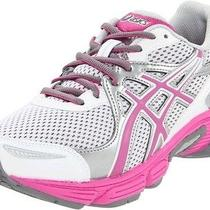 Asics Kids Gel Play Gs Silver/pink/white Running Shoe Us 5.5 Photo