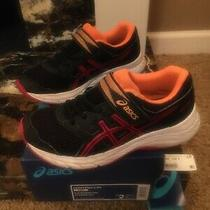 Asics Kids Sneakers Boys Size 2 Contend 5 Ps Black/speed Red Photo