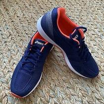 Asics Lyteracer Ts Men's Running Shoes Navy Orange Marathon T8b0n Size 9 Photo