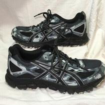 Asics Mens Gel-Scram 3 Gray Black Camo Trail Off Road Running Shoes Sz 9.5 Photo